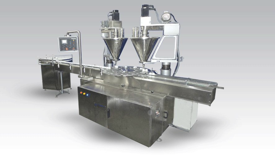 Automatic 2 Head Powder Filling Machine JET-PF60-2